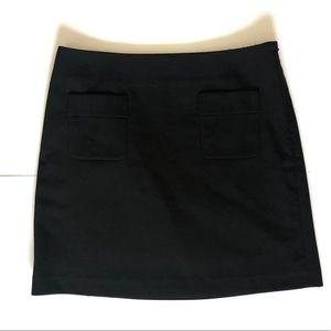 Ann Taylor loft black mini skirt lined size 10
